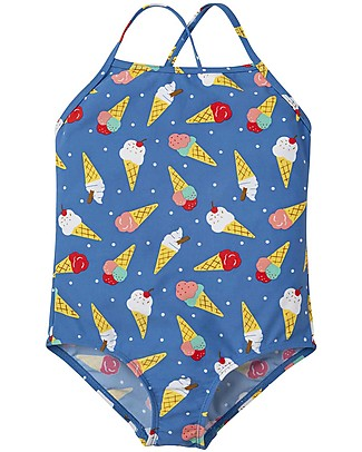 Frugi Coral Swimsuit, Ice Cream Dream - UPF 50+ Swimsuits