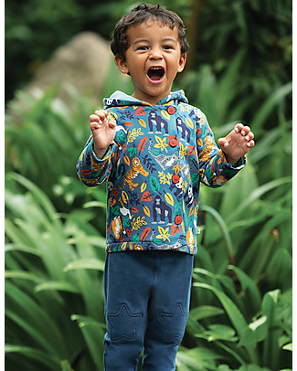 Frugi Cosy Button Up Jacket, Endangered Heroes - 100%  organic cotton Jackets