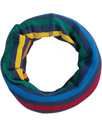 Frugi Cosy Rib Snood, Rainbow Stripe - 100 Organic Cotton Scarves And Shawls