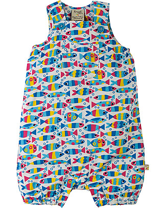 Frugi Coverack Dungaree, Bubble Fish - 100% organic cotton Dungarees