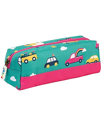 Frugi Crafty Pencil Case, Aqua Rainbow Roads - 100% recycled material! Pencil Cases