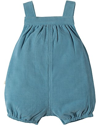Frugi Dinky Cord Dungaree, Stone Blue - Organic Cotton Dungarees