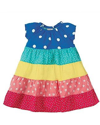 Frugi Dorothy Twirly Dress - Rainbow Hotchpotch - Organic Cotton Dresses
