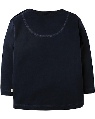 Frugi Doug Applique Top, Navy/Digger - Organic cotton Long Sleeves Tops