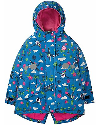 Frugi Explorer Waterproof Coat - Sail Blue Fly High - 100% Recycled Fibres Jackets
