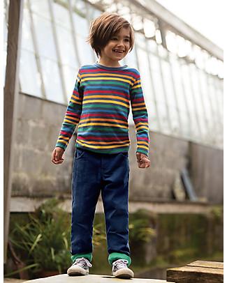 Frugi Favourite Long Sleeves Tee, Rainbow Stripe - 100% organic cotton Long Sleeves Tops