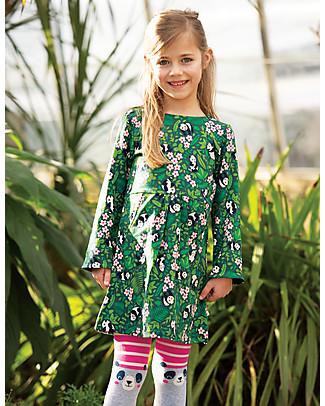 Frugi Fun Knee Tights, Flamingo/Panda - Organic cotton Tights