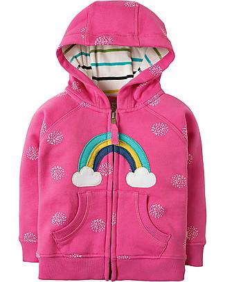 Frugi Hayle Hoody, Flamingo Snowball/Rainbow - 100% organic cotton Sweatshirts
