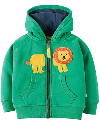 Frugi Hayle Hoody, Green/Lion - 100% organic cotton Sweatshirts