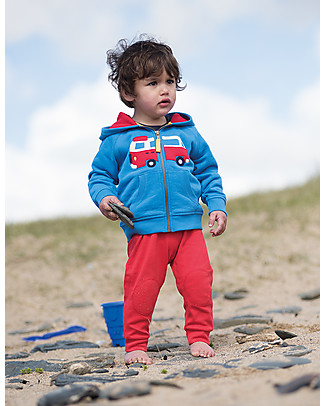 Frugi Hayle Hoody, Sail Blue/Camper - 100% organic cotton Sweatshirts