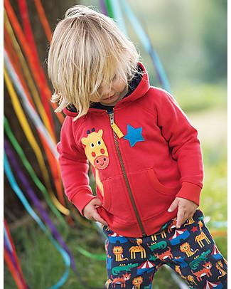 Frugi Hayle Hoody, Tomato/Giraffe - 100% organic cotton Sweatshirts