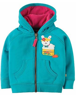 Frugi Hayle Hoody, Turquoise/Bunny - 100% organic cotton Sweatshirts