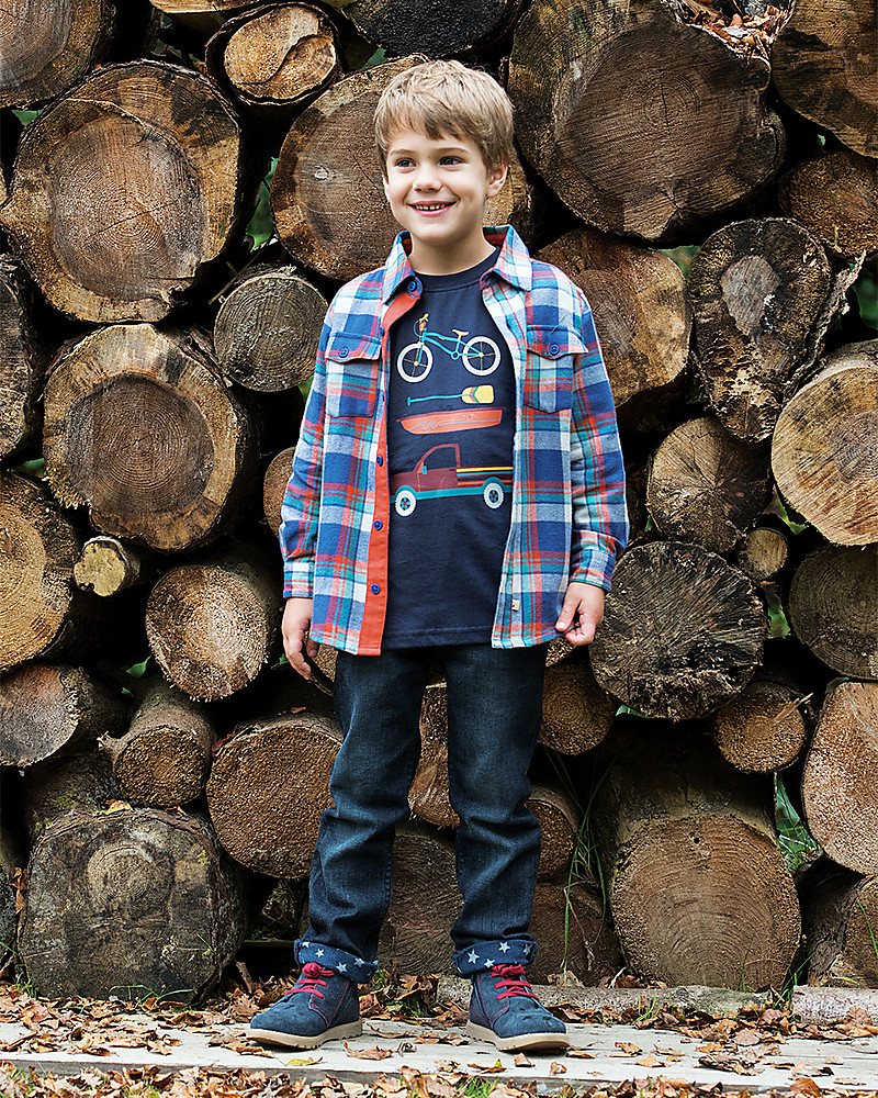 dafbbc8d6aeb Frugi Hector Checked Flanel Shirt, Cosy Check - 100% organic cotton T-Shirts