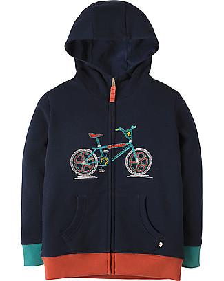 Frugi Hugo Hoody, Navy/Bike - 100% cotone bio Sweatshirts