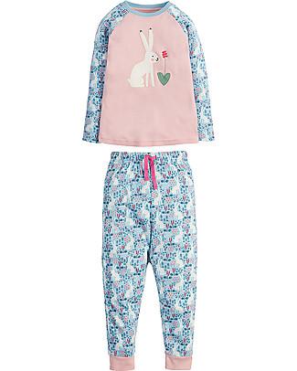 Frugi Jamie Jim Jams, Sky Blue Artic Hares/Hare - 100% organic cotton Pyjamas