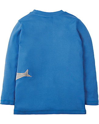 Frugi Joe Applique Top, Sail Blue/Sharks - 100% organic cotton Evening Tops