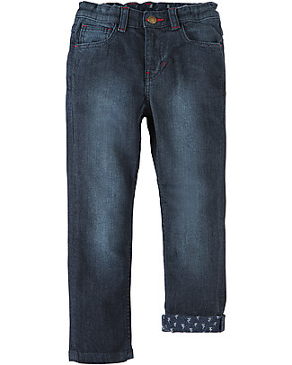 Frugi Joseph Jeans, Dark Wash Denim - Elasticated organic cotton Long Jeans