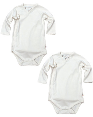 Frugi Kimono Body with Long Sleeves - 2 pack - 100% organic cotton Long Sleeves Bodies