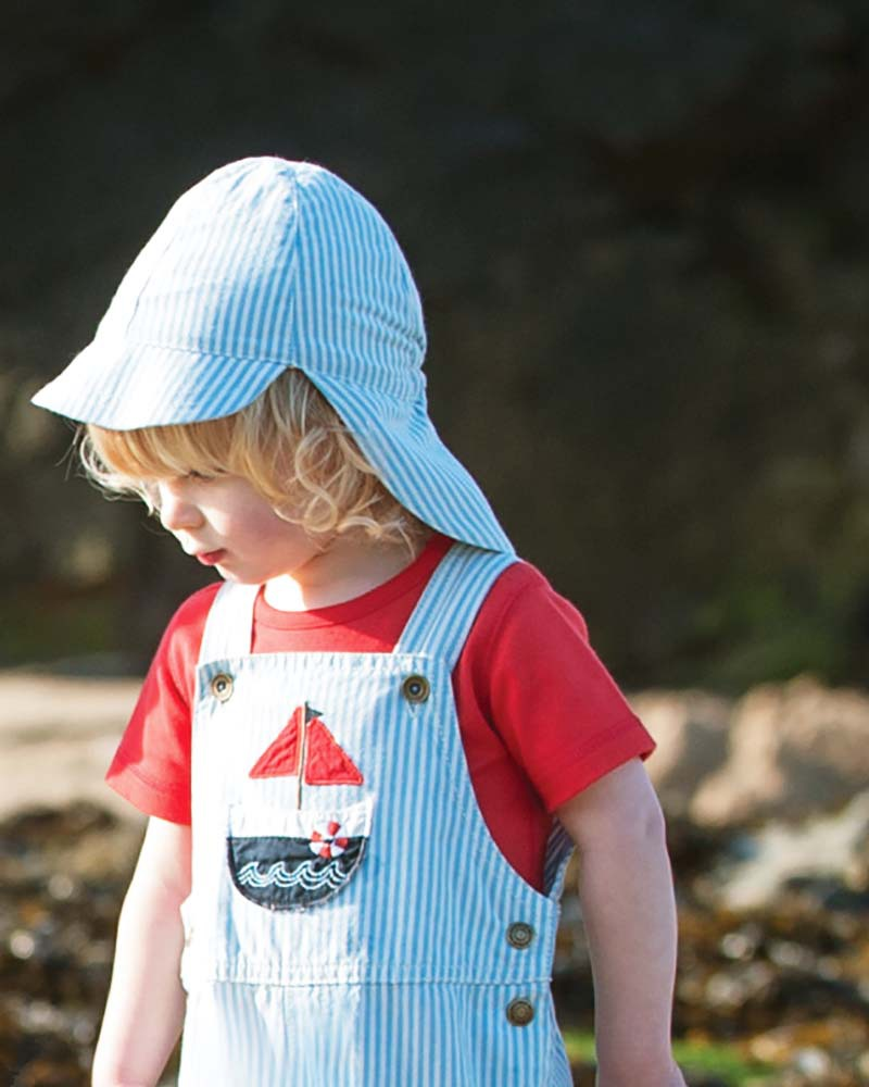 Frugi Legionnaires Hat - Sailor Stripes - 100% Organic