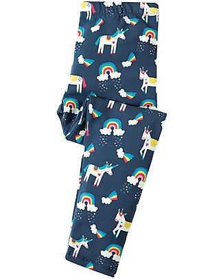 Frugi Libby Leggings, Magic Rainbow - Elasticated organic cotton Leggings