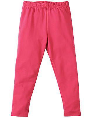 Frugi Libby Leggings, Raspberry - Elasticated organic cotton Leggings