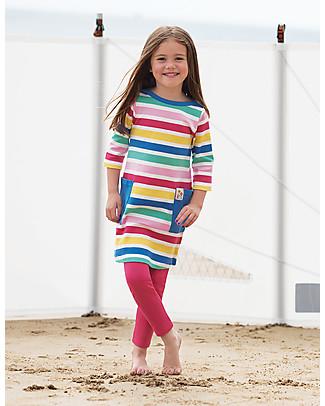 Frugi Libby Leggings, Raspberry - Elasticated organic cotton Leggings