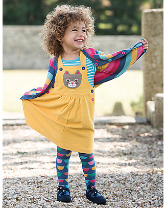 Frugi Little Happy Day Cardigan, Pink Rainbow Stripe - 100% organic cotton Cardigans