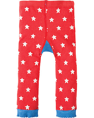 Frugi Little Knitted Leggings, Stars/Bear - 100% organic cotton (soft and non-scratchy) Leggings