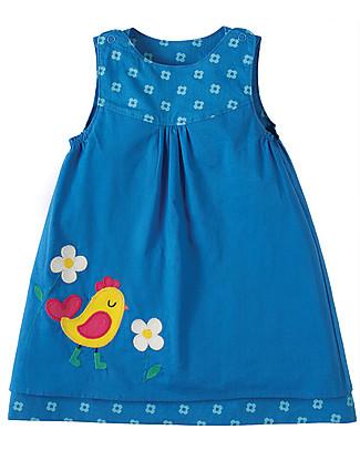 Frugi Little Lamorna Reversible Dress, Blue - 100% organic cotton Dresses