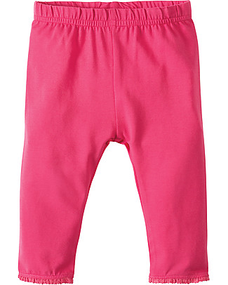 Frugi Little Libby Leggings, Raspberry - Elasticated organic cotton Leggings