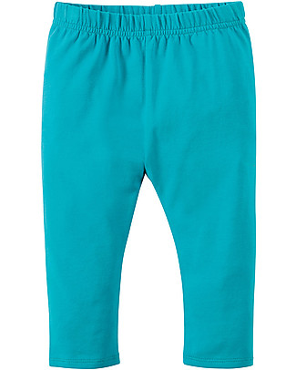 Frugi Little Libby Leggings, Turquoise - Elasticated organic cotton Leggings
