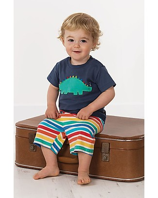 Frugi Little Perran PyJamas, 2 pieces - Soft Navy/Dino - Organic Cotton Pyjamas