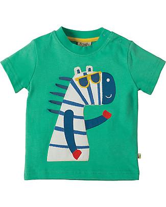 Frugi Little Polkerris Applique T-shirt, Jungle/Zebra - 100% organic cotton T-Shirts And Vests