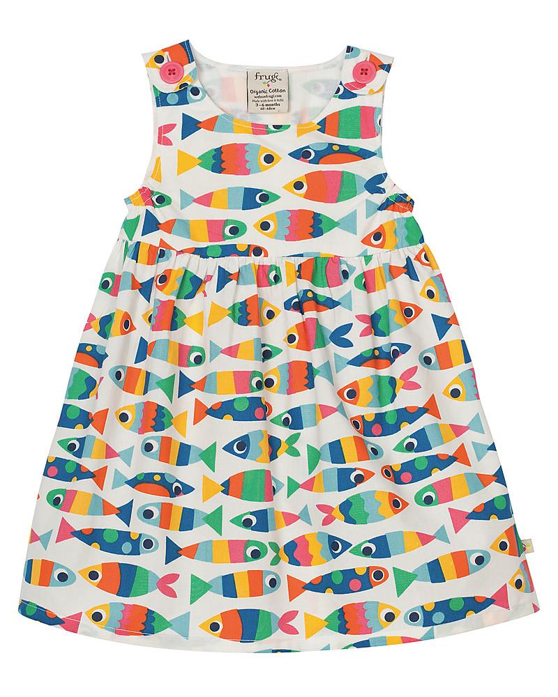 Frugi Little Pretty Party Dress, Sleveless, Rainbow Fish - 100 ...