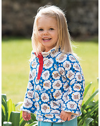 Frugi Little Snuggle Fleece, Baa Baa - 100% Organic Cotton Jumpers