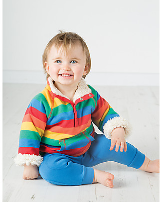 Frugi Little Snuggle Fleece, Happy Rainbow - 100% Organic Cotton Jumpers