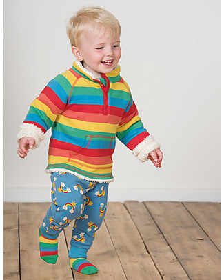 Frugi Little Snuggle Fleece, Happy Rainbow - 100% Organic Cotton Sweatshirts