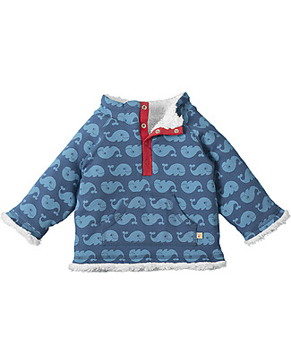 Frugi Little Snuggle Fleece, Ink Whales - 100% organic cotton Sweatshirts