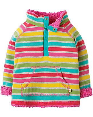 Frugi Little Snuggle Fleece, Rainbow Marl Breton - 100% organic cotton Sweatshirts