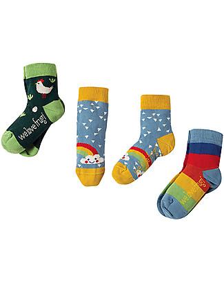 Frugi Little Socks 3 Pack, Chicken - Organic cotton Socks