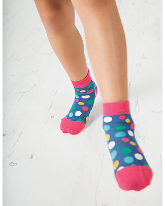 Frugi Little Socks 3 Pack, Flowers - Organic Cotton Socks