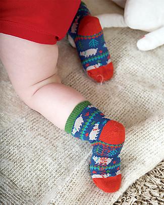Frugi Little Socks 3 Pack, Moose - Organic cotton Socks