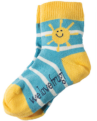 Frugi Little Socks 3 Pack, Sunshine - Organic Cotton Socks