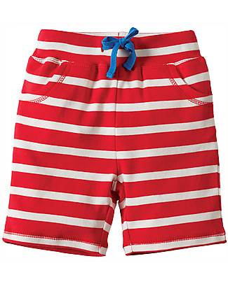 Frugi Little Stripy Shorts, Tomato Breton/Hippo Shorts