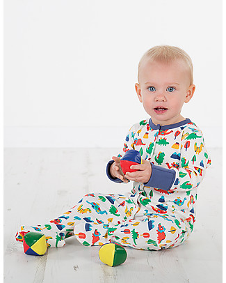 Frugi Lovely Babygrow, Dino Days - 100% organic cotton Babygrows