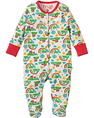 Frugi Lovely Babygrow, Happy Days - 100% organic cotton Babygrows