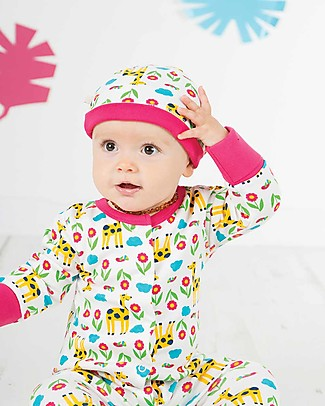 Frugi Lovely Hat, Giraffe Meadow - 100% organic cotton Hats