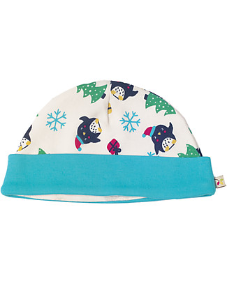 Frugi Lovely Hat, Penguin Party - 100% Organic Cotton Hats