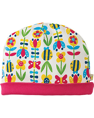 Frugi Lovely Hat, Soft Bumble Bloom - 100% organic cotton Hats