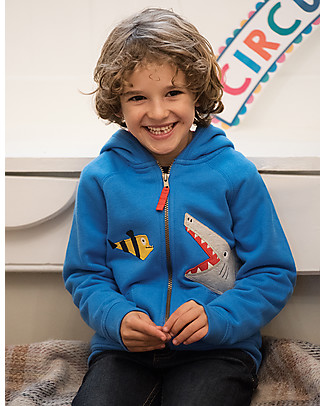 Frugi Lucas Hoody, Sail Blue/Shark - 100% organic cotton Sweatshirts
